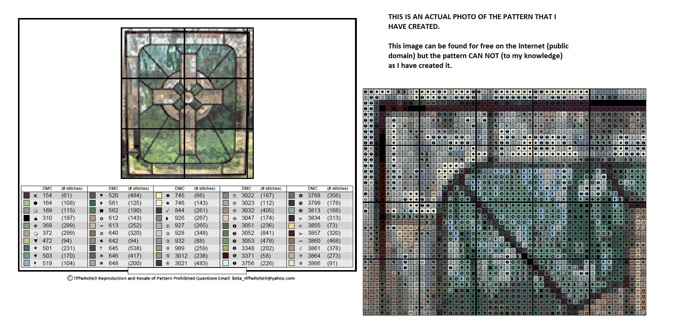 Cross In Stained Glass Cross Stitch Pattern
