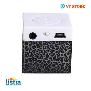 Portable Crackle Print Cubic Mini Speaker LED Colorful TF Card Insert MP3 Player SHOOT