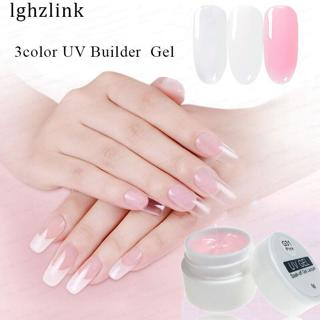 Lghzlink Professional UV Gel Strong Builder Gel Forms For Nail Extensions LED Gel Nail Polish Mani