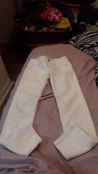 Littel girl justice white jean size 7s