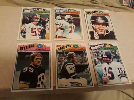 1977 Topps football lot of 6