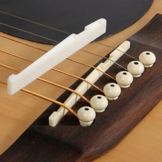 Fresh Buffalo Bone Bridge Saddle And Slotted Nut For 6 String Acoustic Guitar