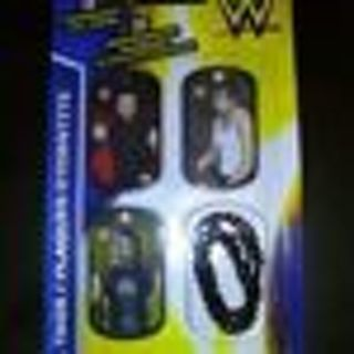 new!pack of 3 wwe wrestling i.d. tags-the sheild-seth rollins-roman reigns-dean ambrose