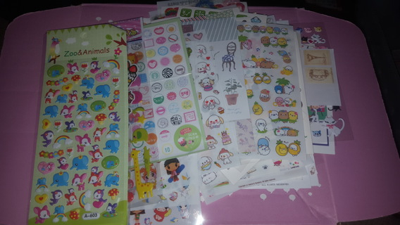 GIGANTIC Lot of Kawaii Plus More Sticker Sheets!!  OVER 100 SHEETS!!