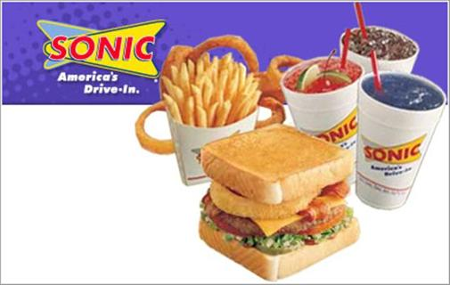 Free: Sonic Drive In Discount Gift Card Coupon Free Food