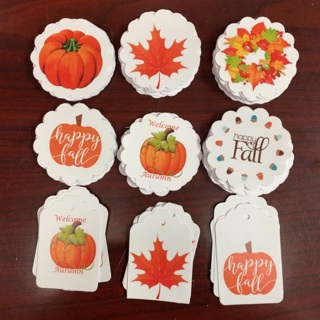 Lot of Fall Design Paper stays Cutouts
