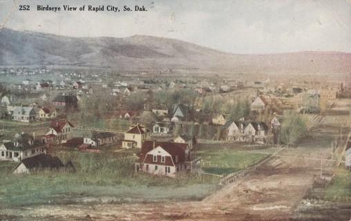 Vintage Used Postcard: 1911 Birdseye View of Rapids City, SD
