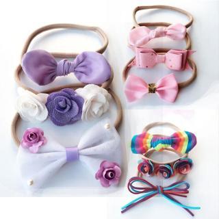 1/3pcs Baby Infant Toddler Girl Flower Bow Hairband Elastic Nylon Headband