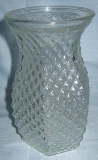Free Vintage Hoosier Glass Diamond Vase 4071 Antiques Listia