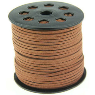 3M3mm Brown Suede Leather String Thread Cords Jewelry Making Accessorise