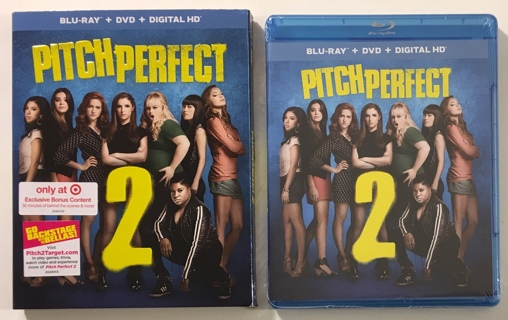 Pitch Perfect 2 Blu-ray + DVD + Digital HD Movie With Exclusive Bonus Content - New Factory Sealed!