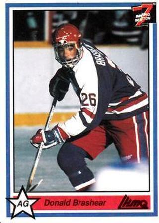 1990-91 7th Inning Sketch QMJHL #245 - Donald Brashear - Longueuil College Francais