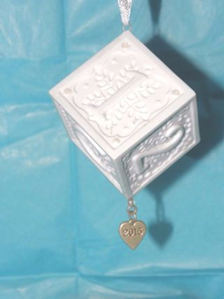 Baby's First Christmas Ornament Hallmark 2015  New With out box Auction 3