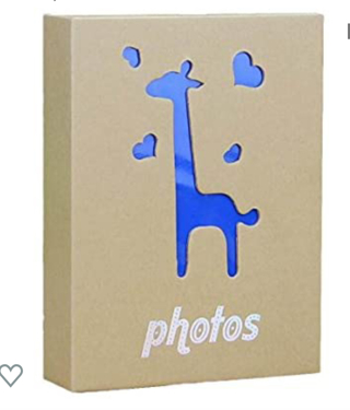 """Wei Long Photo Album Hold 200 Pockets, 3.5""""x5"""" Photos, (Sika Deer)"""