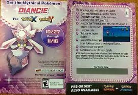 free pokemon codes for x and y