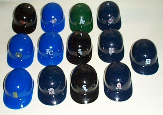 Free 13 Mini Plastic Baseball Caps Other Collectibles