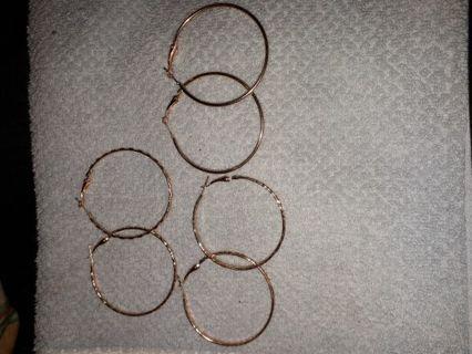 Earring hoop set