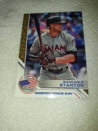 GIANCARLO STANTON 2017 Topps INDEPENDENCE DAY