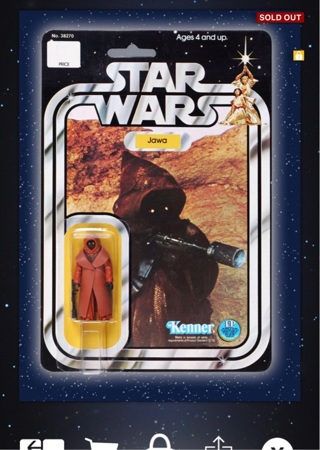 star wars topps digital trading cards sold out Jawa