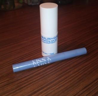 Malin & Goetz Revitalizing Eye Gel & Kiss & Smink Lip Crayon