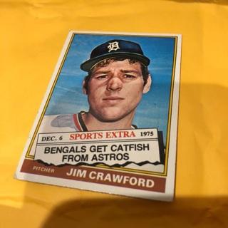 Free 1976 Topps Traded Sports Extra Jim Crawford Baseball Card