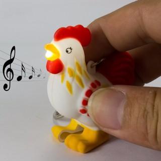 Keychain ***** chicken key chain sound light LED flashlight motorycle car keys ring holder pendant