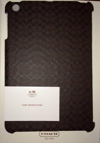 $98 NIB COACH Heritage SIGNATURE iPad MINI 1 & 2 Hard Molded COVER CASE 65536 GIFT!
