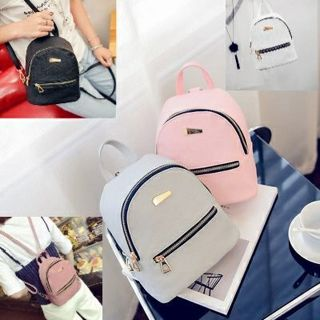 Fashion Women Mini Backpack PU Leather Satchel School Rucksack Girls Casual Bags