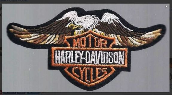 1 NEW Harley Eagle IRON ON PATCH Motor Cycles Fabric Patch Biker jacket motorbike club