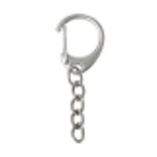 One Iron Based Silver Tone Lobster Claw Key Chain / Ring - 49x18mm