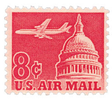 Mint US stamp 'Airliner and Capitol'