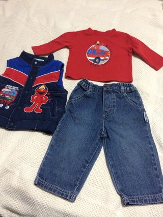 Sesame Street 3-piece Set  Size 12 Month Boy