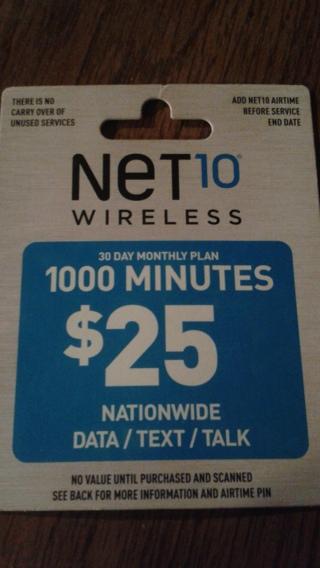 *****25$, 1000 MINUTE NET 10 PHONE CARD*****