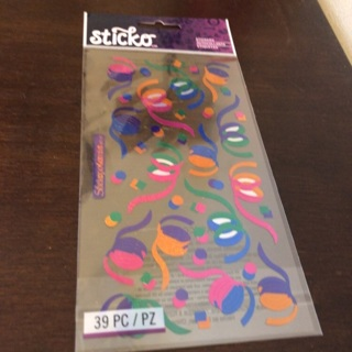 Sticko party streamers stickers