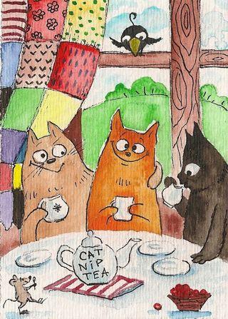 New Cats nip Tea Photo 4x6
