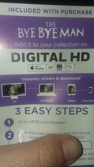The bye bye man digital code