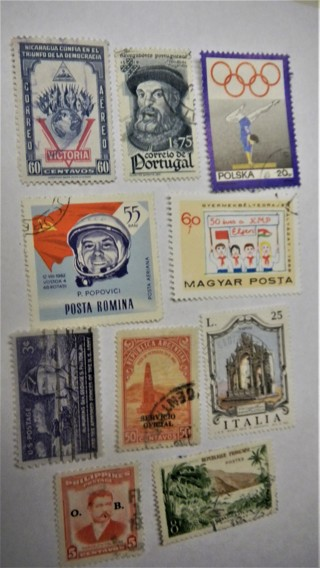 10 Nice Used World Stamps