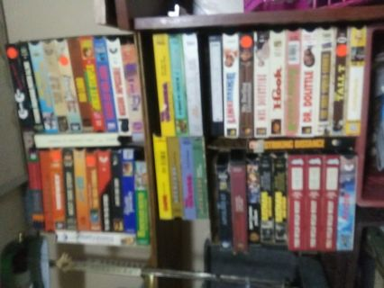 10 VHS Movies Action/Horror/Drama/Sci-fi/Comedy/Animated/ETC.