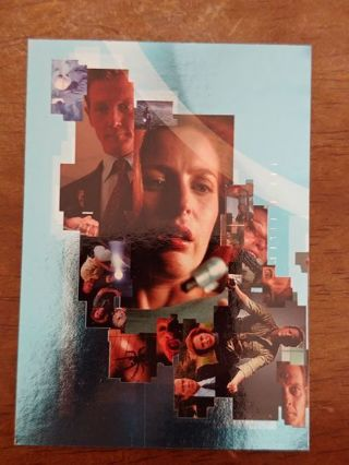 X files Foil Insert Puzzle Card