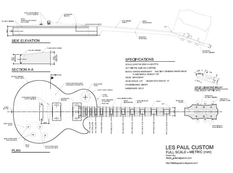 Enchanting Les Paul Guitar Template Pattern - Professional Resume ...