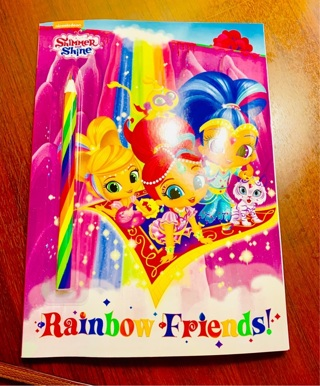 Brand New Gift Quality Golden Book Shimmer and Shine Rainbow Friends with Magical Rainbow Pencil