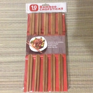 **SALE!** 10 Pair Bamboo Chopsticks