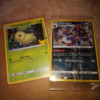 2 promo pokemon cards
