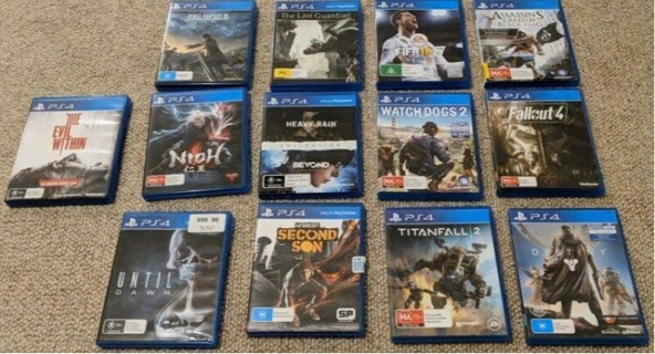 Selling All my Ps4 games