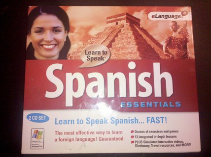 Learn to Speak Spanish CD Rom. Free Shipping!