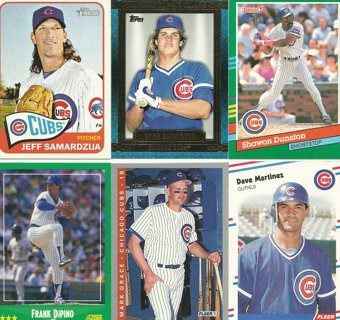 10-Card Lot of Chicago Cubs Baseball Cards