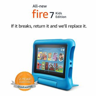 "All-New Fire 7 Kids Edition Tablet, 7"" Display, 16 GB, Blue Kid-Proof Case-Free Returns if it Breaks"