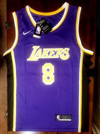 New w/tags! KOBE BRYANT > LAKERS > Nike swingman MENS jersey size 52/L purple 8 >READ & LOOK!