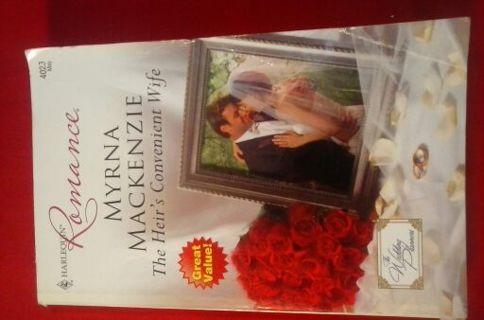"Harlequin Romance ""The Heir's Convenient Wife"" by Myrna Mackenzie"