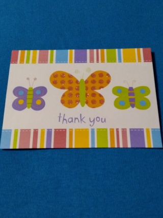 Thank You Notecard - Butterflies